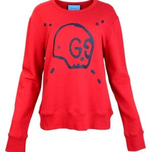 Other - Gucci Men's Red GucciGhost Sweatshirt Sz L
